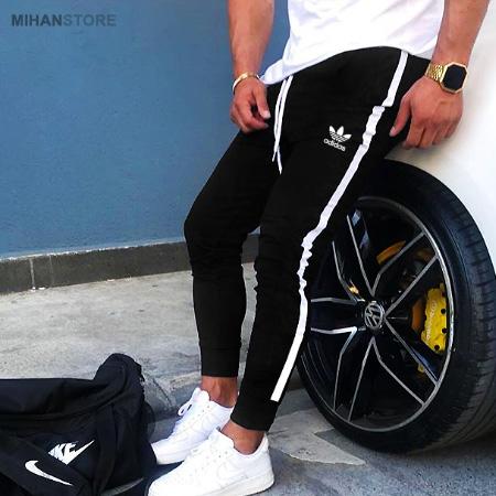 خرید شلوار اسلش مردانه Adidas طرح BlackBird